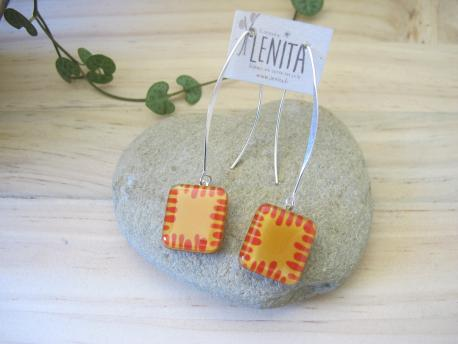 poznan-boucles-d-oreilles-carree-fermoir-long-jaune-curry-rouge-terracota