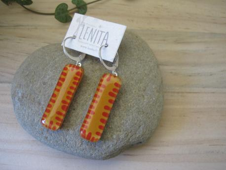 poznan-boucles-d-oreilles-rectangle-moyen-jaune-curry-rouge-terracota